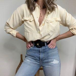 Vintage Silk Pocket Blouse